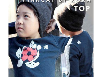 PINKCAT キッズ 男の子 カメサ プリント長Tシャツ